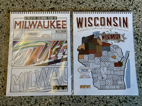 Milwaukee/Wisconsin Coloring Books!