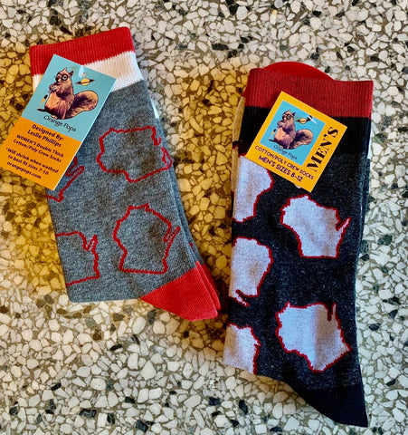 Wisconsin Socks for Men and Women. Locally made.