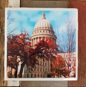 WI State Capitol Coaster hand designed Milwaukee