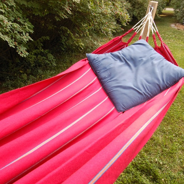 Textile Hammock. Fair trade canvas. Strong!