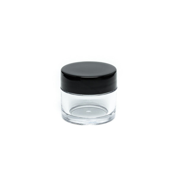 Clear Concentrate Jar - Black Lid - Screw Top - 10ml