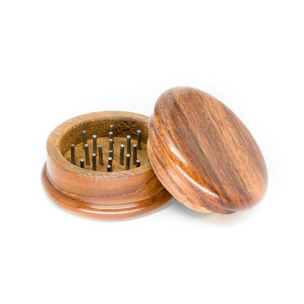 Two Part Wood Grinder for Herbs - 2 inches - Side 1