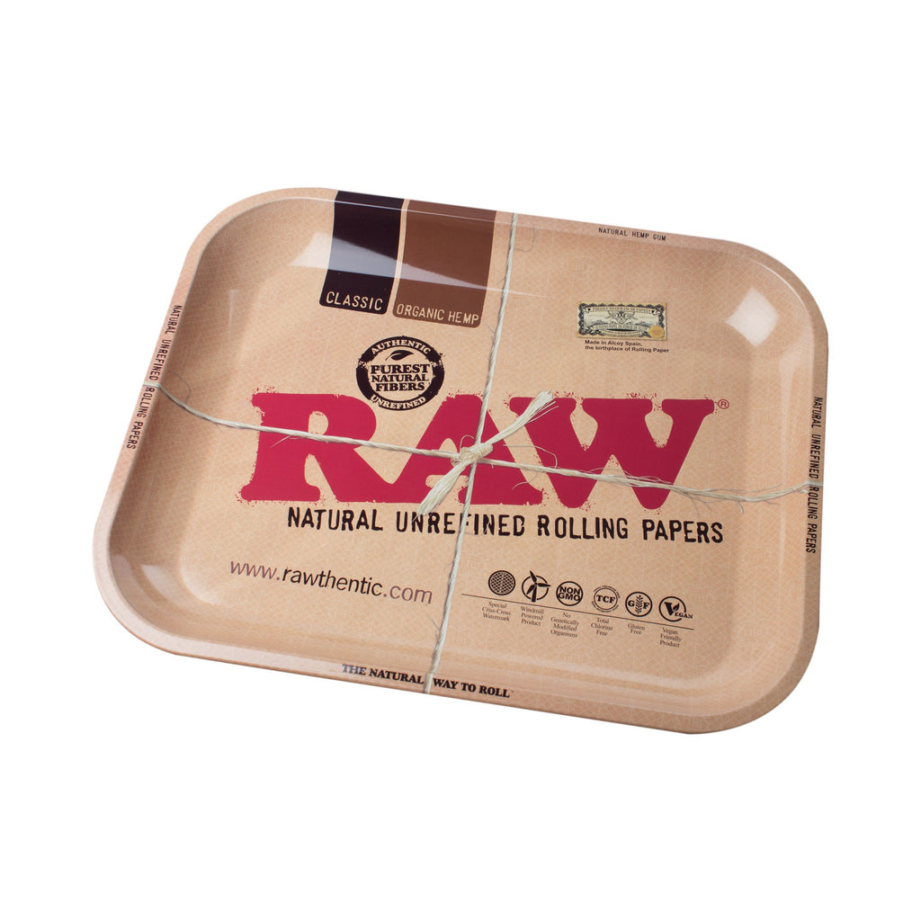Raw Rolling Paper Metal Tray