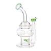 Swiss Egg Glass Bong with Inline Percolator by Purr - 9 Inches - 14mm - Assorted Colors