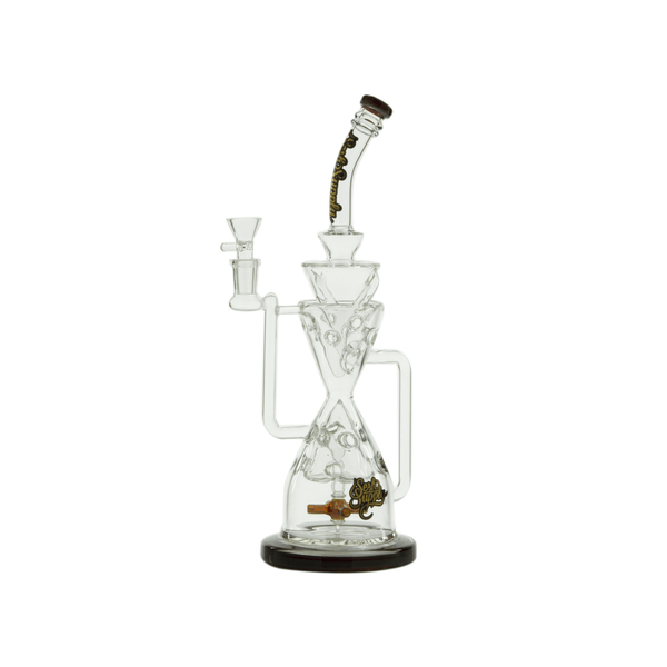 Swiss Recycler Bong with Propeller Perc by Sesh Supply - 13 Inches