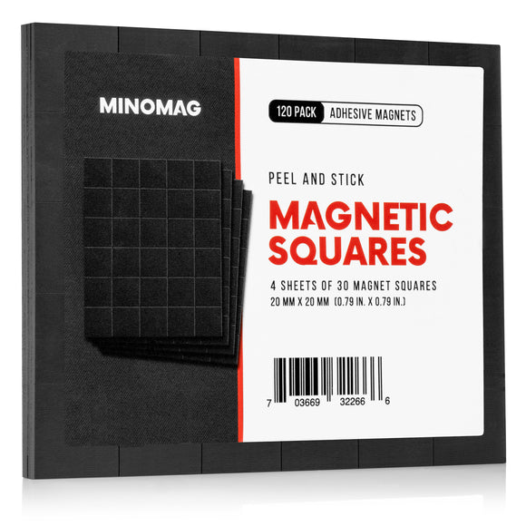 Peel and Stick Adhesive Magnetic Squares | 0.79 in. (120 Pack)