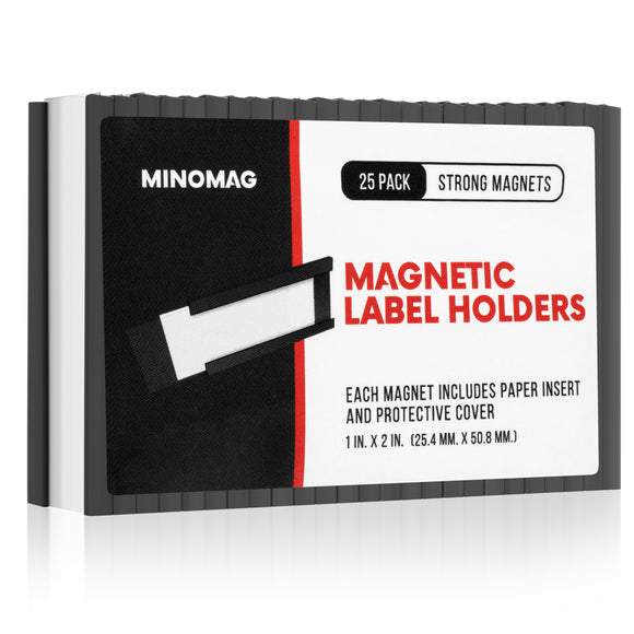 Magnetic Label Holders | 1in.x2in. (Set of 25)