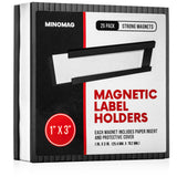 Magnetic Label Holders | 1in.x3in. (Set of 25)