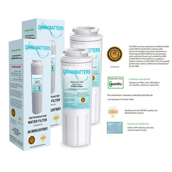 Clear Choice CLCH101 Refrigerator Water Filter Replacement - Pack of 3