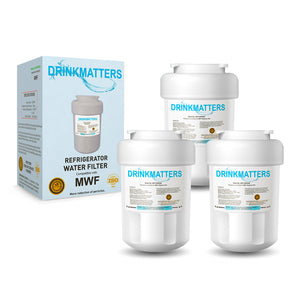 GE Smartwater MWF Refrigerator Water Filter Replacement - Pack of 3