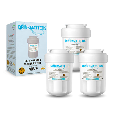 GE MWFP3pk Refrigerator Water Filter Replacement - Pack of 3