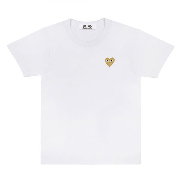 PLAY Basic T-Shirt Gold Emblem (White)
