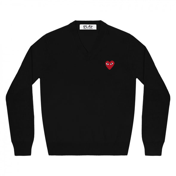 PLAY V-Neck Pullover Red Emblem