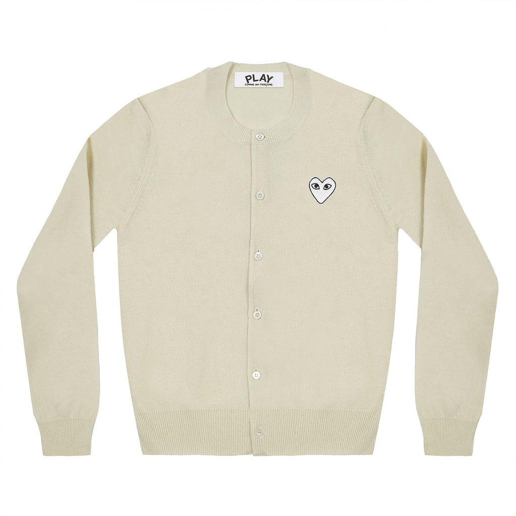 PLAY Cardigan White Heart Natural Series Off White