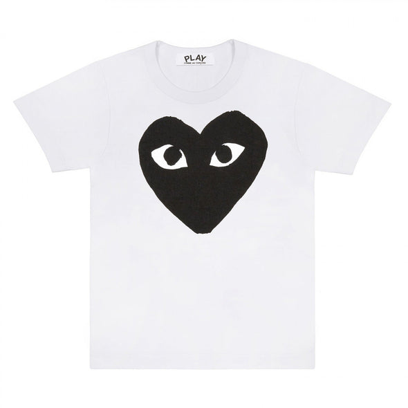 PLAY T-Shirt Big Black Heart