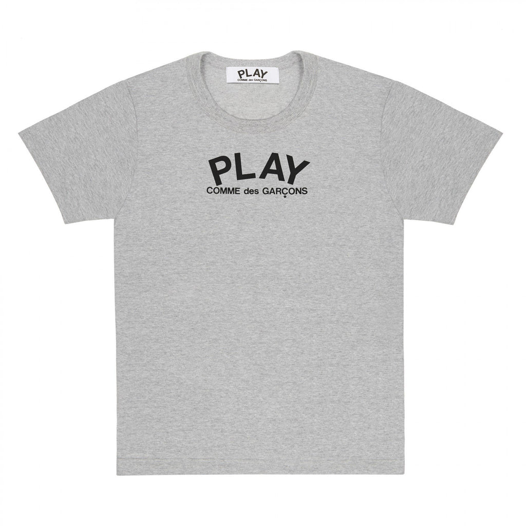 PLAY T-Shirt Black Small Logo and Heart on Back