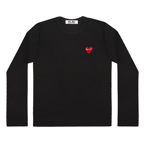 Play L/S Basic T-Shirt Red Emblem