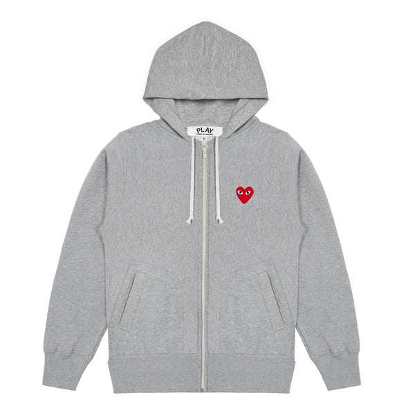 PLAY Grey Zip Hooded Sweatshirt