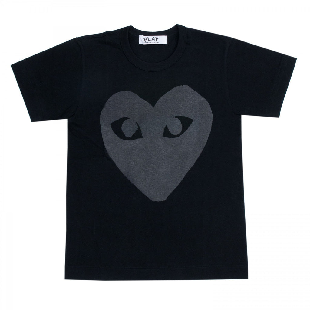 PLAY Black T-Shirt Black Heart Screenprint