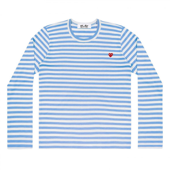 PLAY L/S Stripe Red Emblem