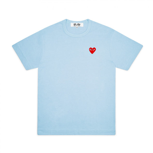 PLAY Basic T-Shirt Red Emblem Spring Series (Blue)