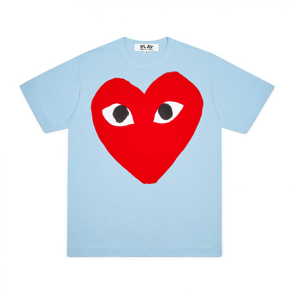 PLAY Red Heart Screenprint T-Shirt Spring Series (Blue)