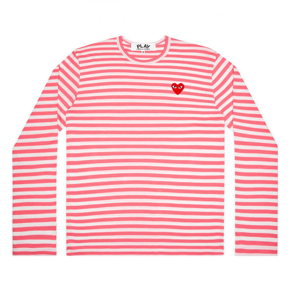 PLAY L/S Coloured Striped Red Emblem Spring Series (Pink)
