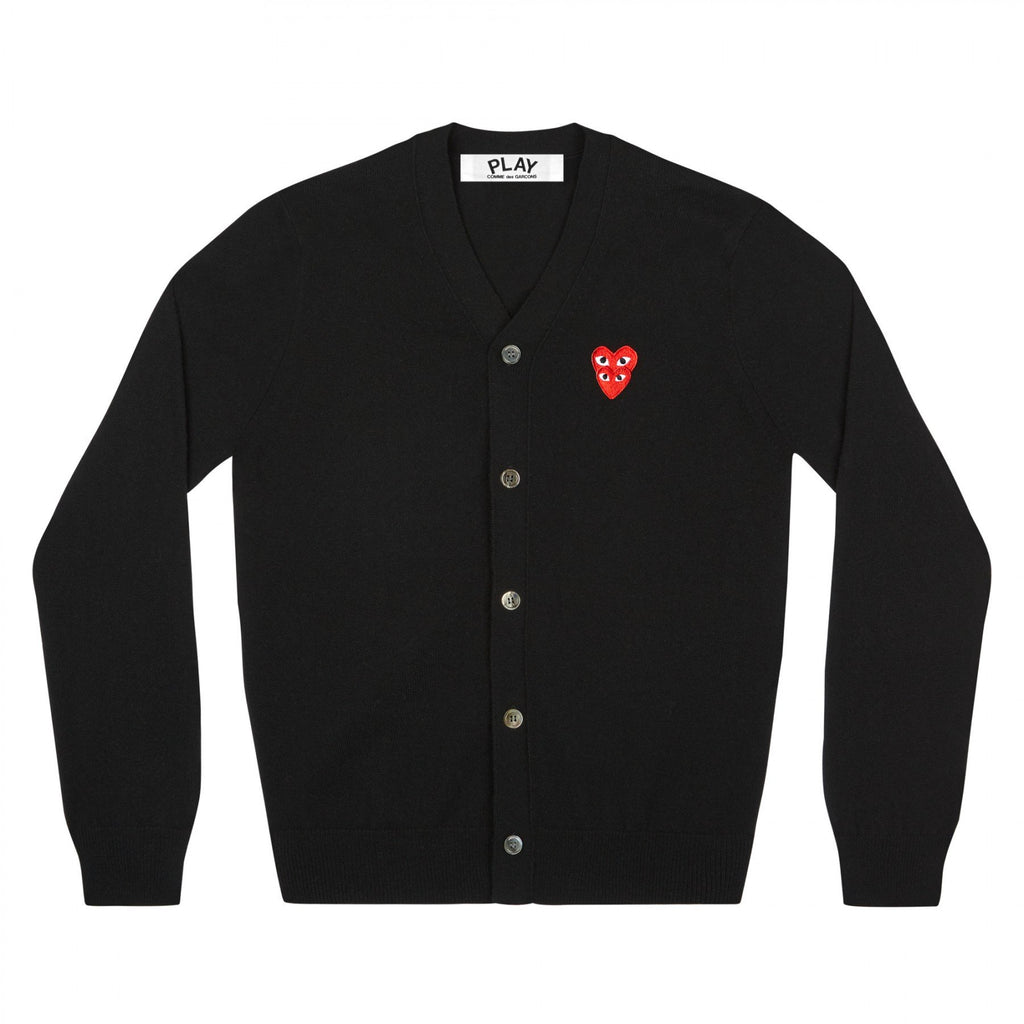 PLAY Men's Cardigan with Red Family Heart