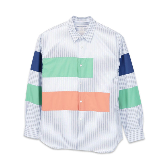 Stripe with Horizontal Colour Block Panelled Shirt