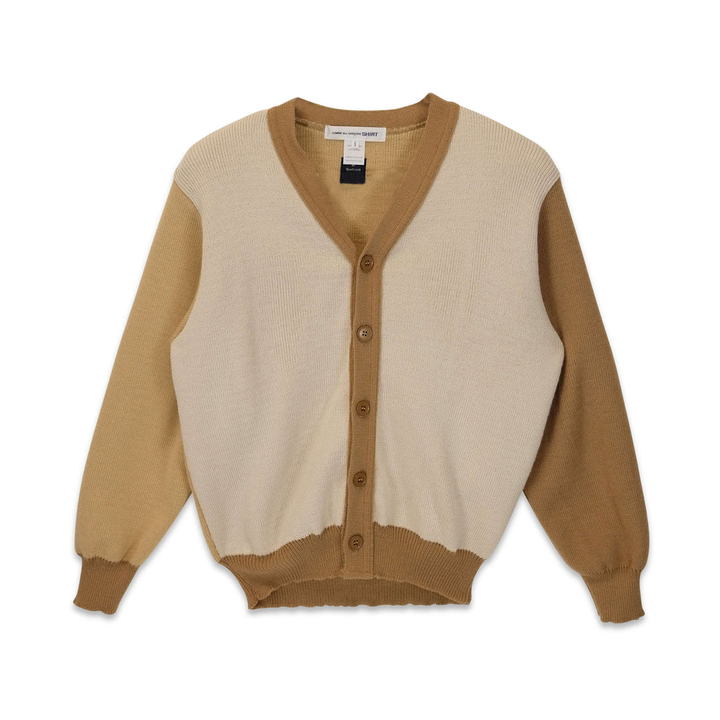 Two Tone Cardigan Beige