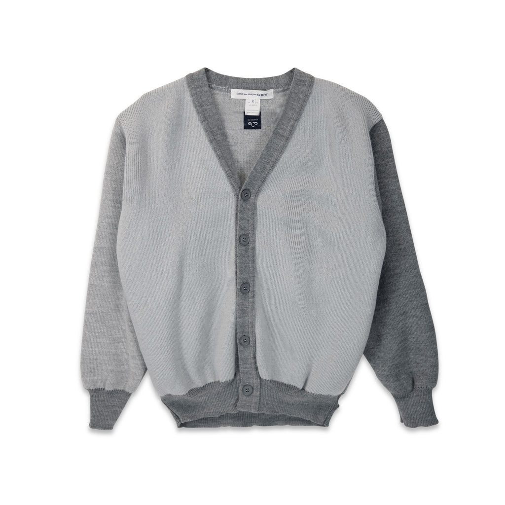 Two Tone Cardigan Grey