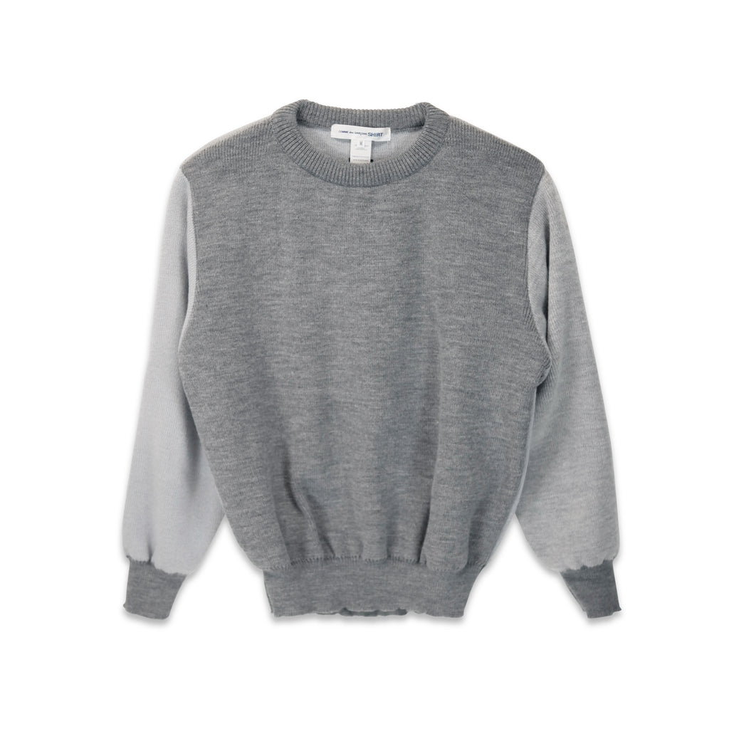 Two Tone Pullover Grey
