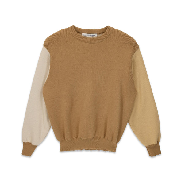 Two Tone Pullover Beige