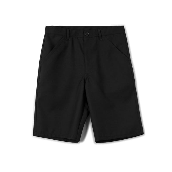 Flat Front Poly/Wool Gabardine Workstitch Shorts