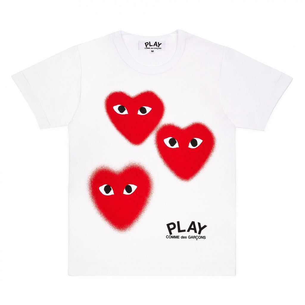 PLAY Three Fuzzy Heart Screen Print Limited Edition