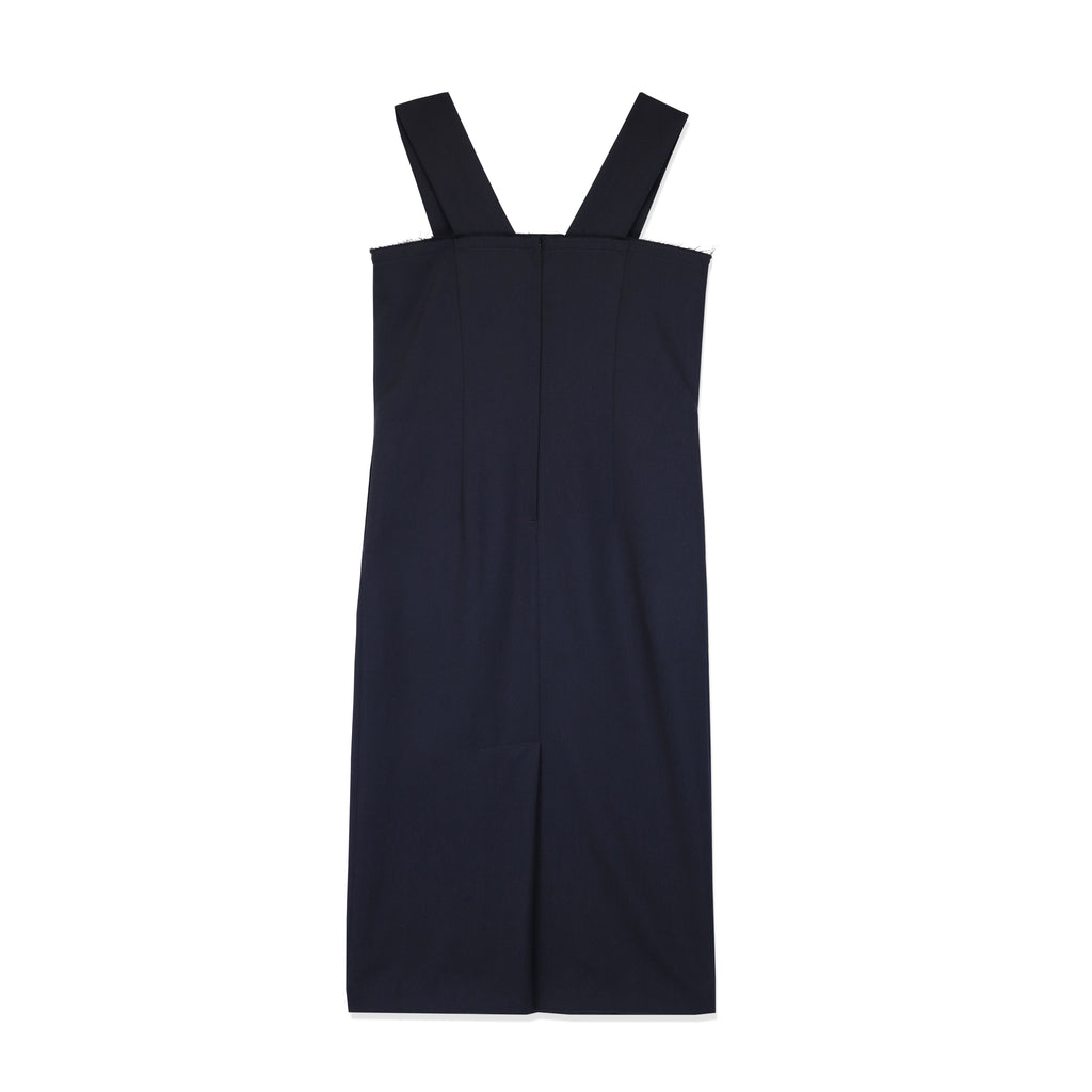 Straight Seam Poly/Wool Pinafore