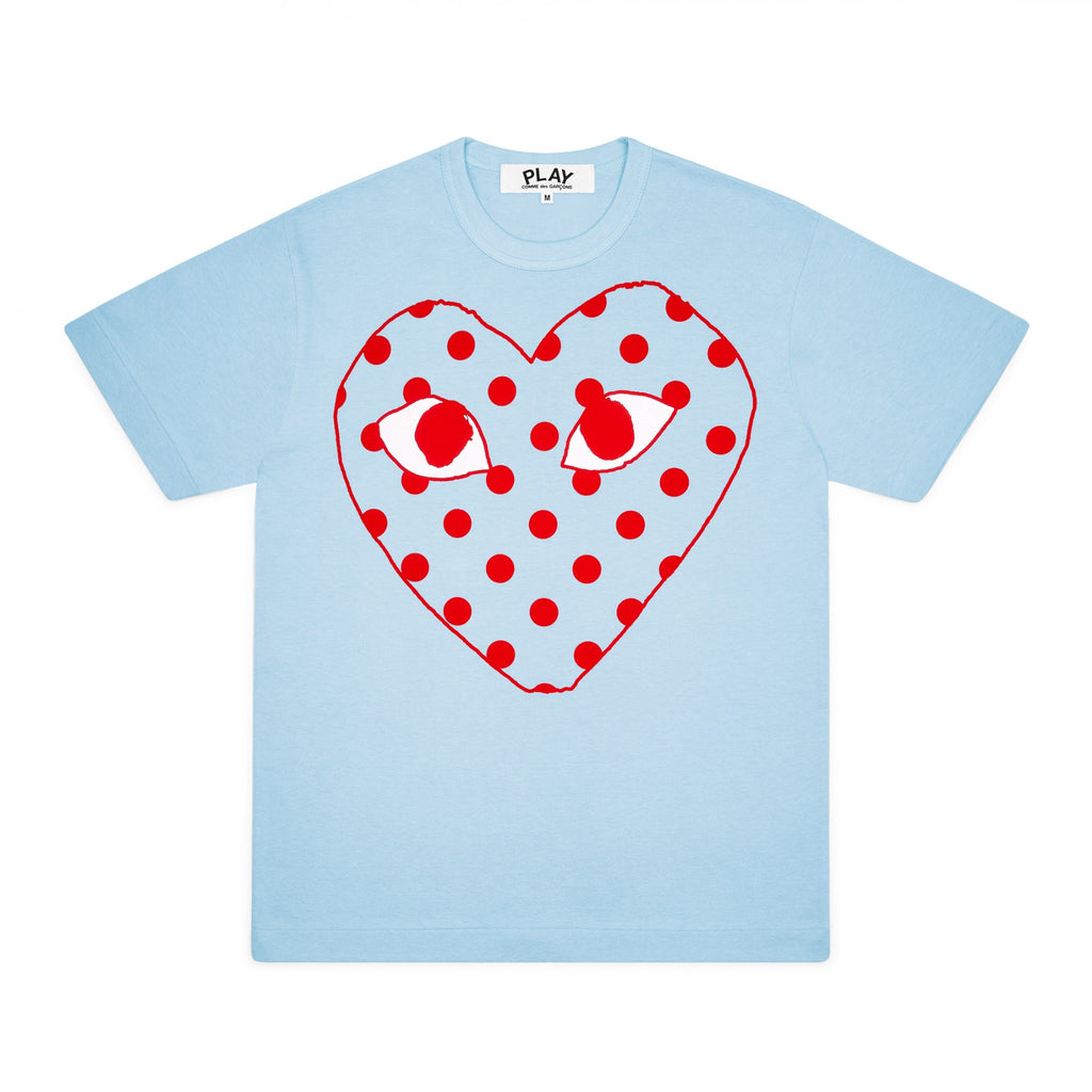 PLAY Red Spotted Heart Screenprint T-Shirt Spring Series (Blue)