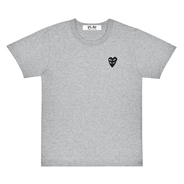 PLAY Basic Grey T-Shirt Black Family Heart