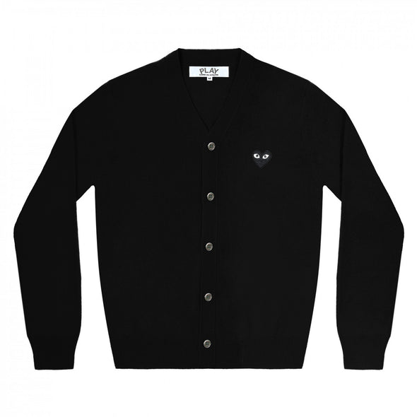 PLAY Men's Cardigan Black Emblem