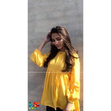 Yellow Dholki Kurti - Mart of Fashion