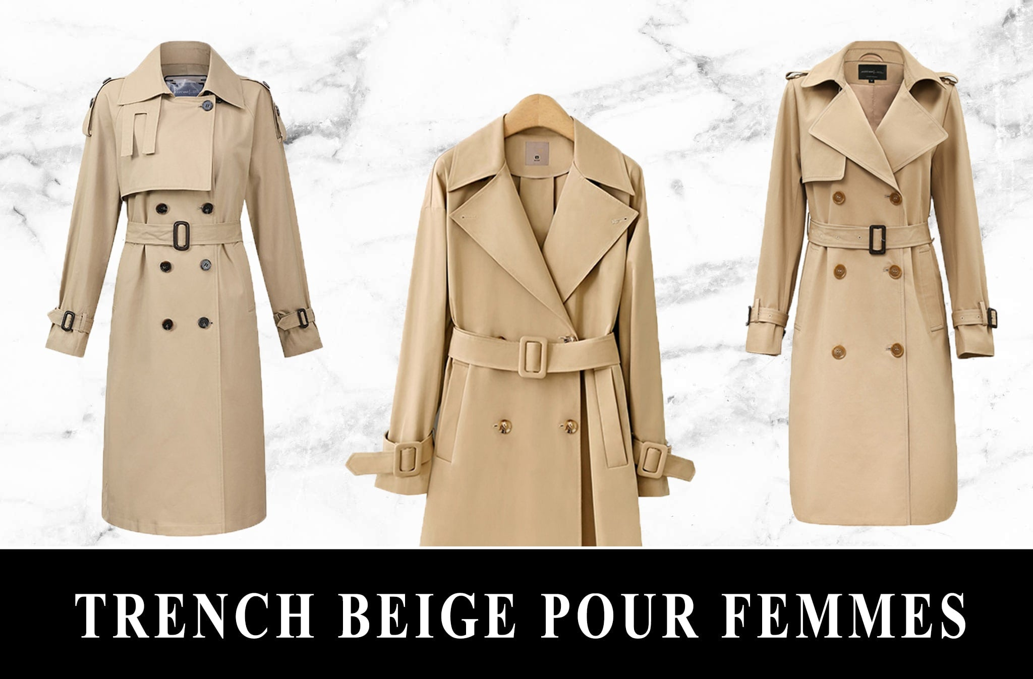 Collection Trench Beige Femme