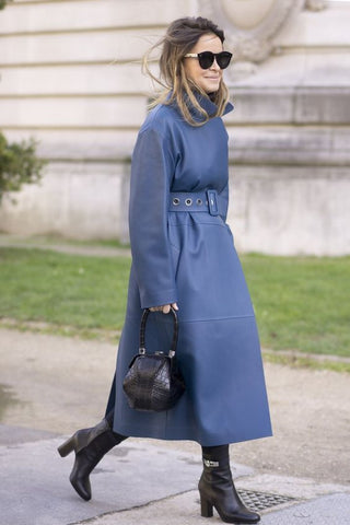 Trench Femme Petite Taille Bleu