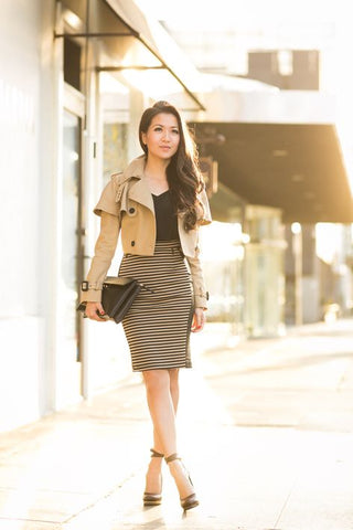 Trench Femme Petite Taille Jupe