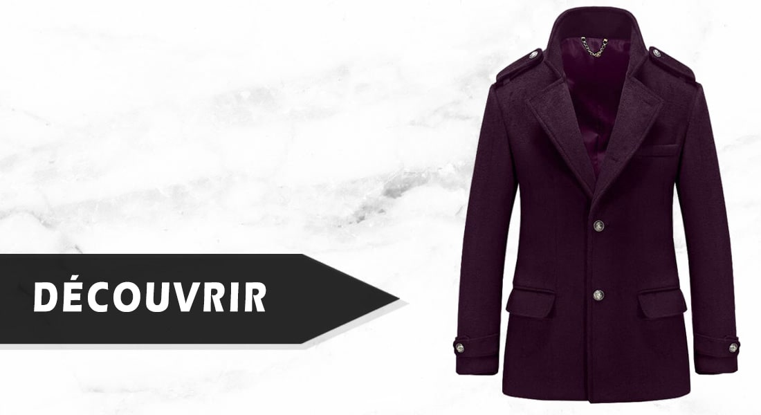 Trench Homme Rouge Prune