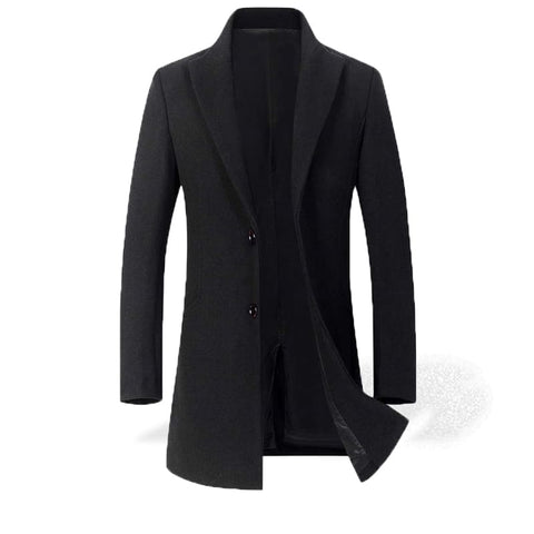 Trench Long Noir Homme