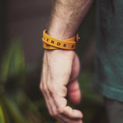 Friends Like The Sun Double Wrap Leather Wristband