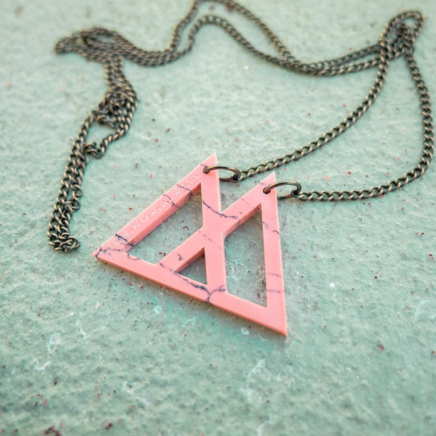 Rhodonite Triangle Necklace