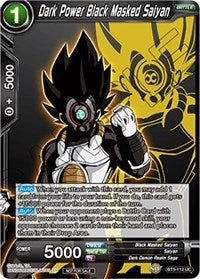 Dark Power Black Masked Saiyan (Event Pack 3 - 2019) [BT5-112_PR] | Alternate Worlds