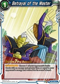 Betrayal of the Master (Assault of the Saiyans) [BT7-045_PR] | Alternate Worlds