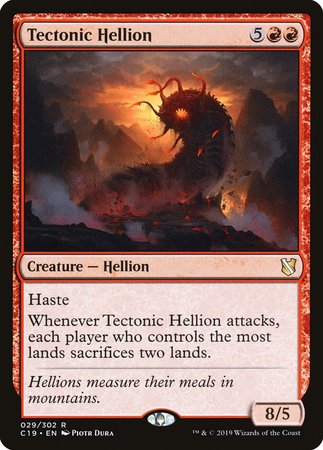 Tectonic Hellion [Commander 2019] | Alternate Worlds